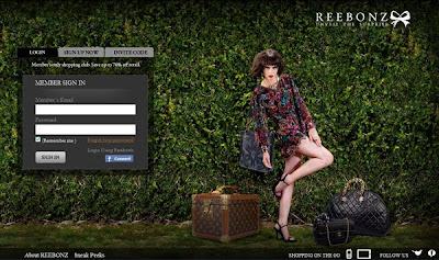 Reebonz Philippines log-in page