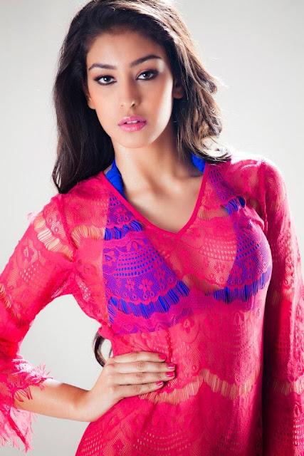 Miss India Navneet Kuar in Blue Bikini