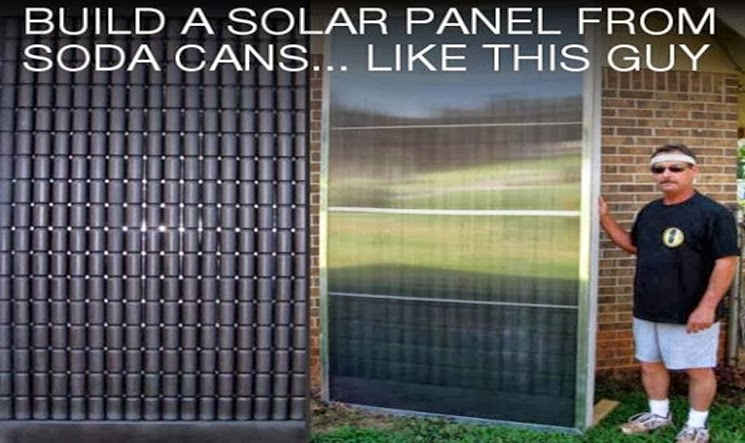 Thinking Humanity: How to Build a Solar Heating Panel with Soda Cans