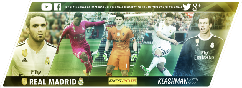 Kostum Real Madrid Terbaru untuk PES 2015