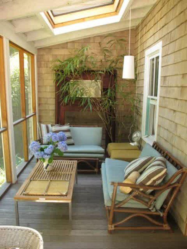 terrazas acristaladas peque as colores en casa