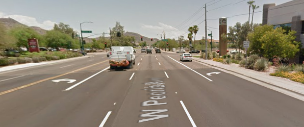 Street View of Intersection and Lanes
