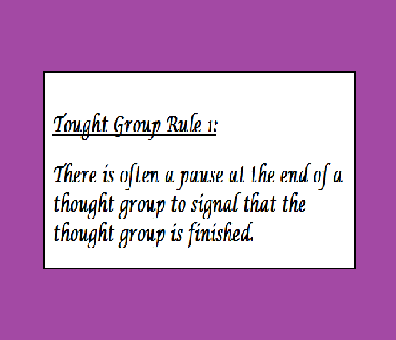 A Good English Pronunciation Intonation Thought Group And