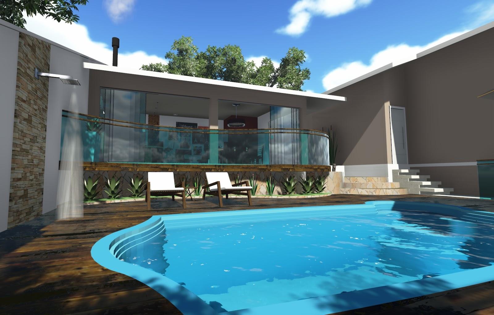 Halla arquitetura e urbanismo c digo 45005 constru o for Piscina residencial