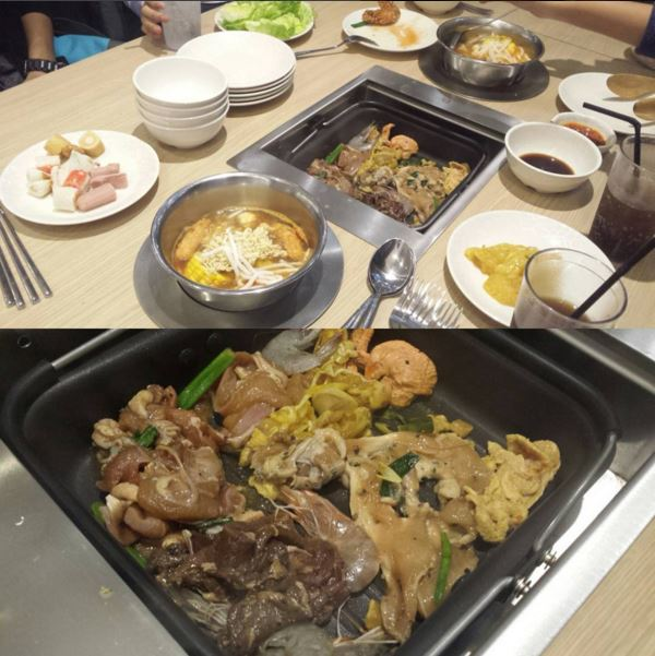 Had Our First Eatery In Kuching After Minutes Of Shopping Seoul Garden Is A Korean Restaurant Where You Can Take Cook And Eat Their Raw Cooked Buffet For