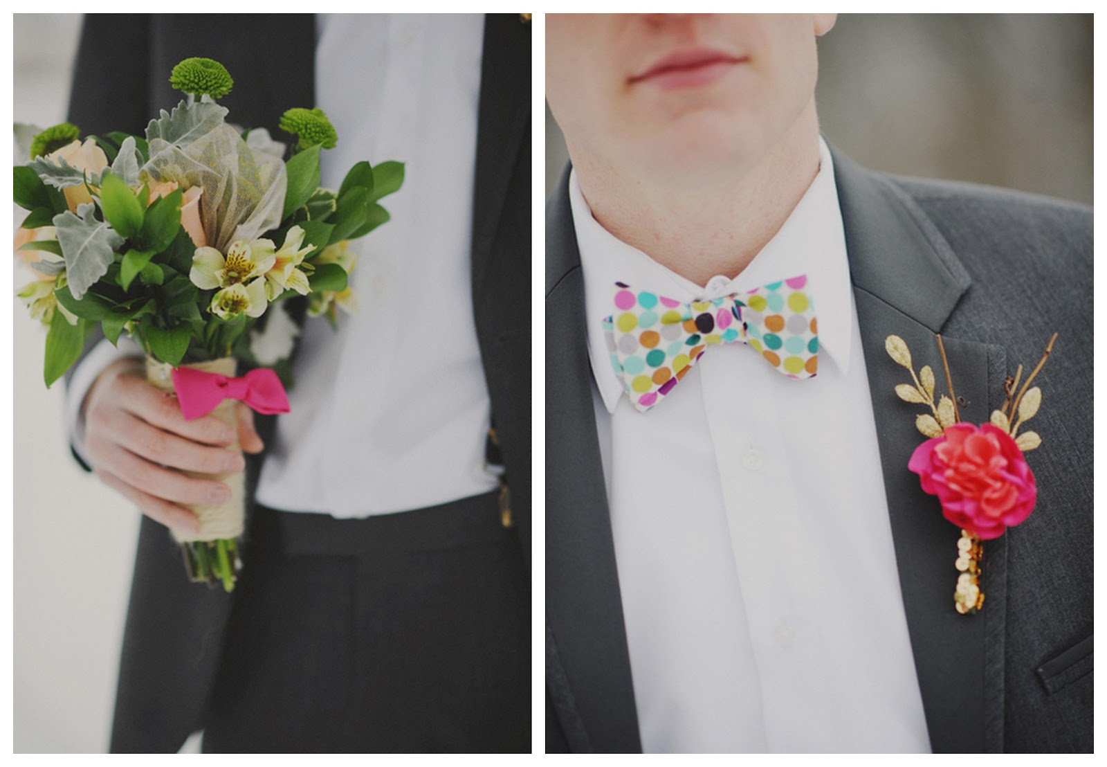 Rainbow Wedding Tux Snowy wedding inspiration withRainbow Wedding Tux
