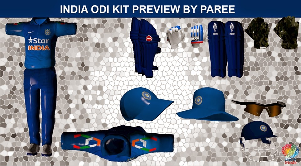 India odi kit 2014 for ea cricket 07