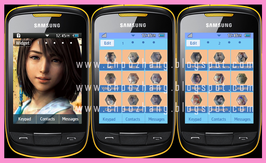 Theme download of samsung