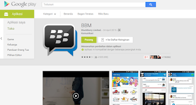 Aplikasi Android Populer - BBM for Android