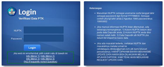 Server Baru Cek Verifikasi Data PTK/Guru P2TK Dikdas