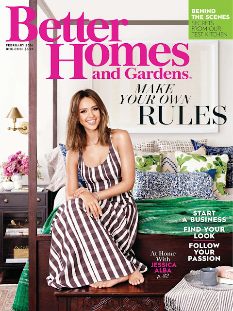 Actress, Model, @ Jessica Alba - Better Homes and Gardens US, February 2016