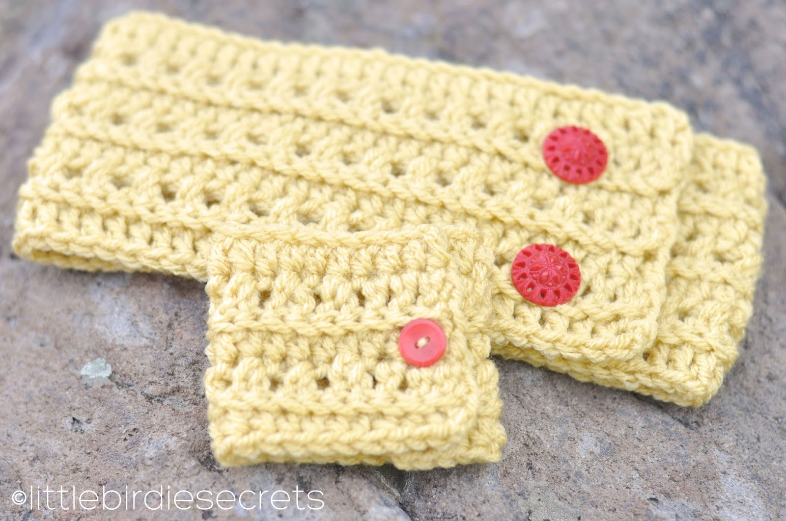 Free Adjustable Crochet Headband Pattern : Little Birdie Secrets: free crochet headband and cuff ...
