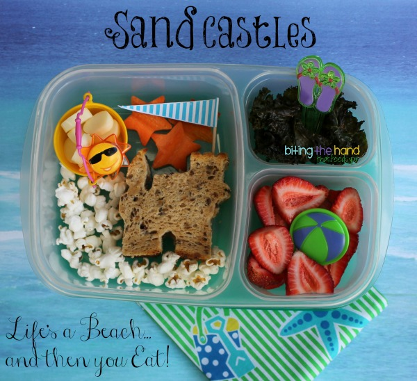 "Fun summer beach sand castle lunch! ""Life's a Beach"" - Biting the Hand That Feeds You"