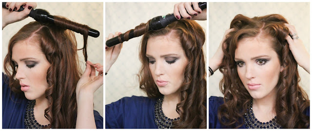 The Freckled Fox: Holiday Hair Week: Side-Swept Curls