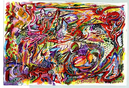 Painting by jazz genius Jeremy Steig