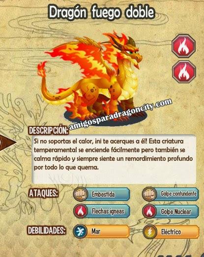 imagen de las caracteristicas del dragon fuego doble