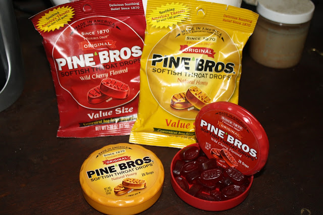 Pine Bros. Bags and Pucks in Honey & Cherry flavors