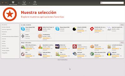 nuevo centr de software de ubuntu Oneiric Ocelot