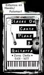 • CLASES DE PIANO, CANTO Y GUITARRA •