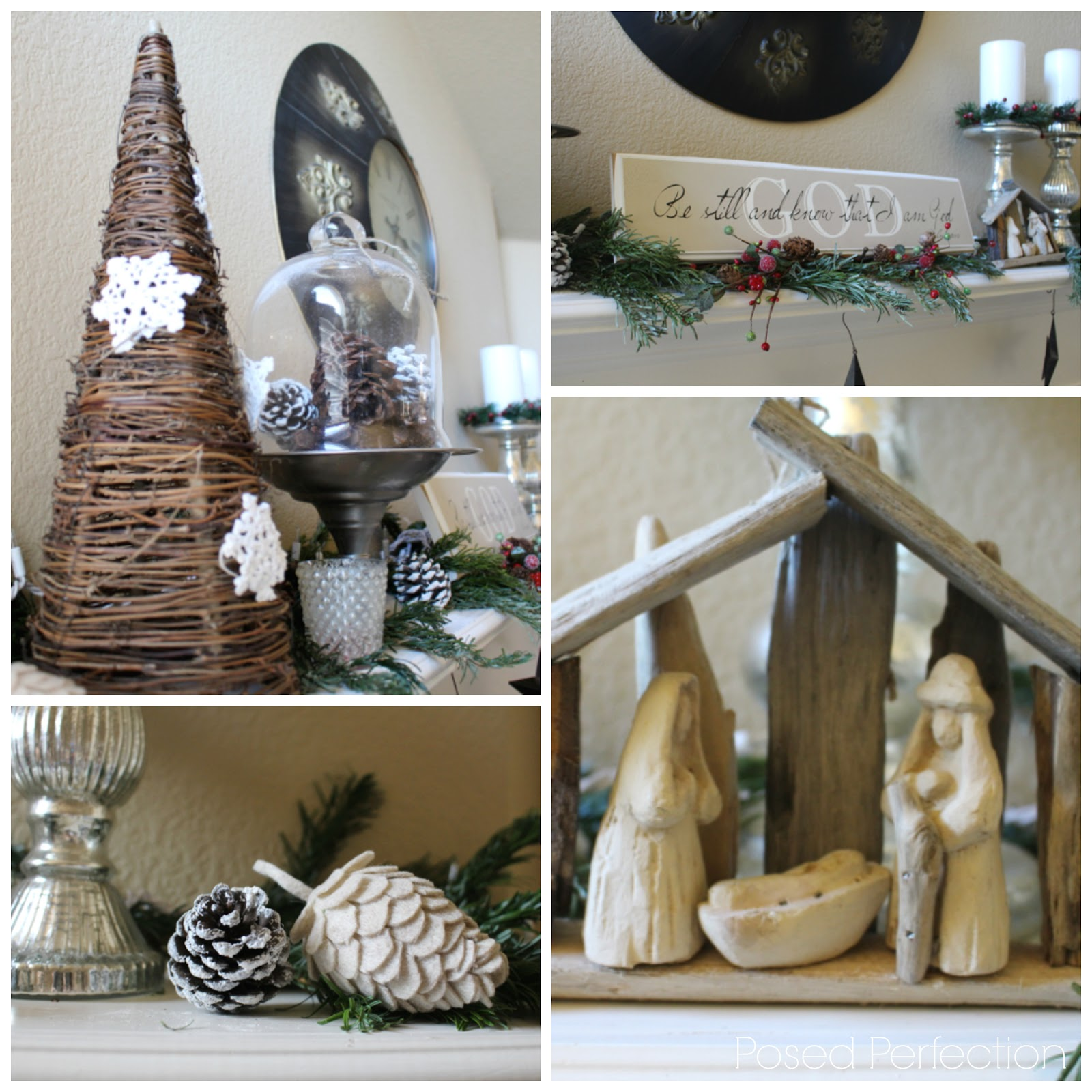 Decking the Halls Holiday Home Tour - Living room Mantel