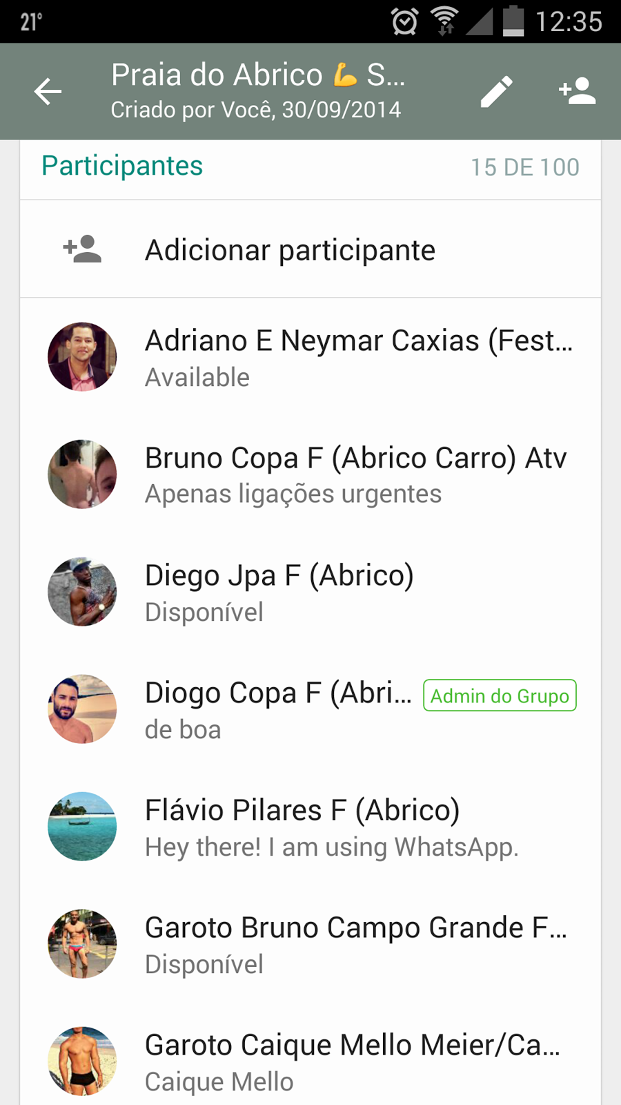 GRUPO DA PRAIA DO ABRICÓ OS TOPS