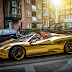 Chrome Gold Ferrari 458 Spider