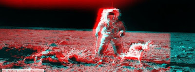 photo de couverture journal facebook sur la lune 3d