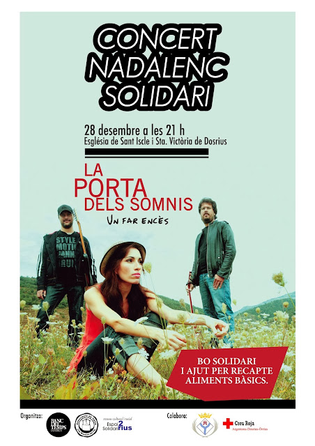 La Porta dels Somnis a Dosrius.Concert Solidari pro recapte d'aliments