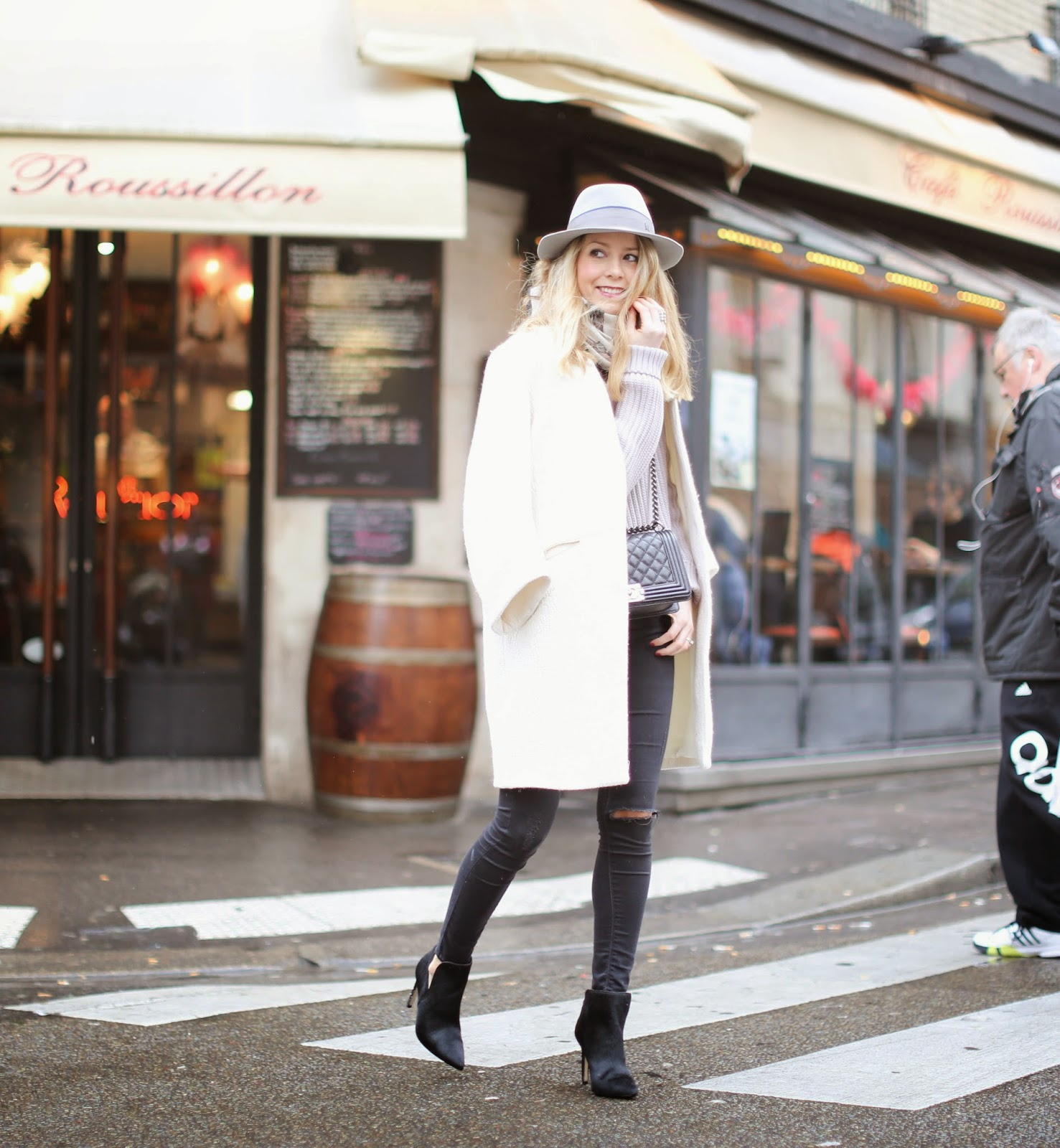 paris, streetstyle, zara, topshop, maison michel, hermès, chanel, fashion blogger