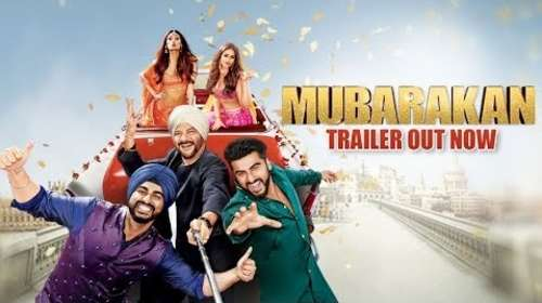 Poster Of Mubarakan 2017 Watch Online Free Download