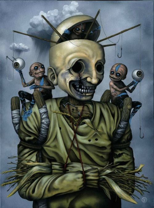 Jeff Christensen js4853 deviantart pinturas surreais sombrias Espantalho