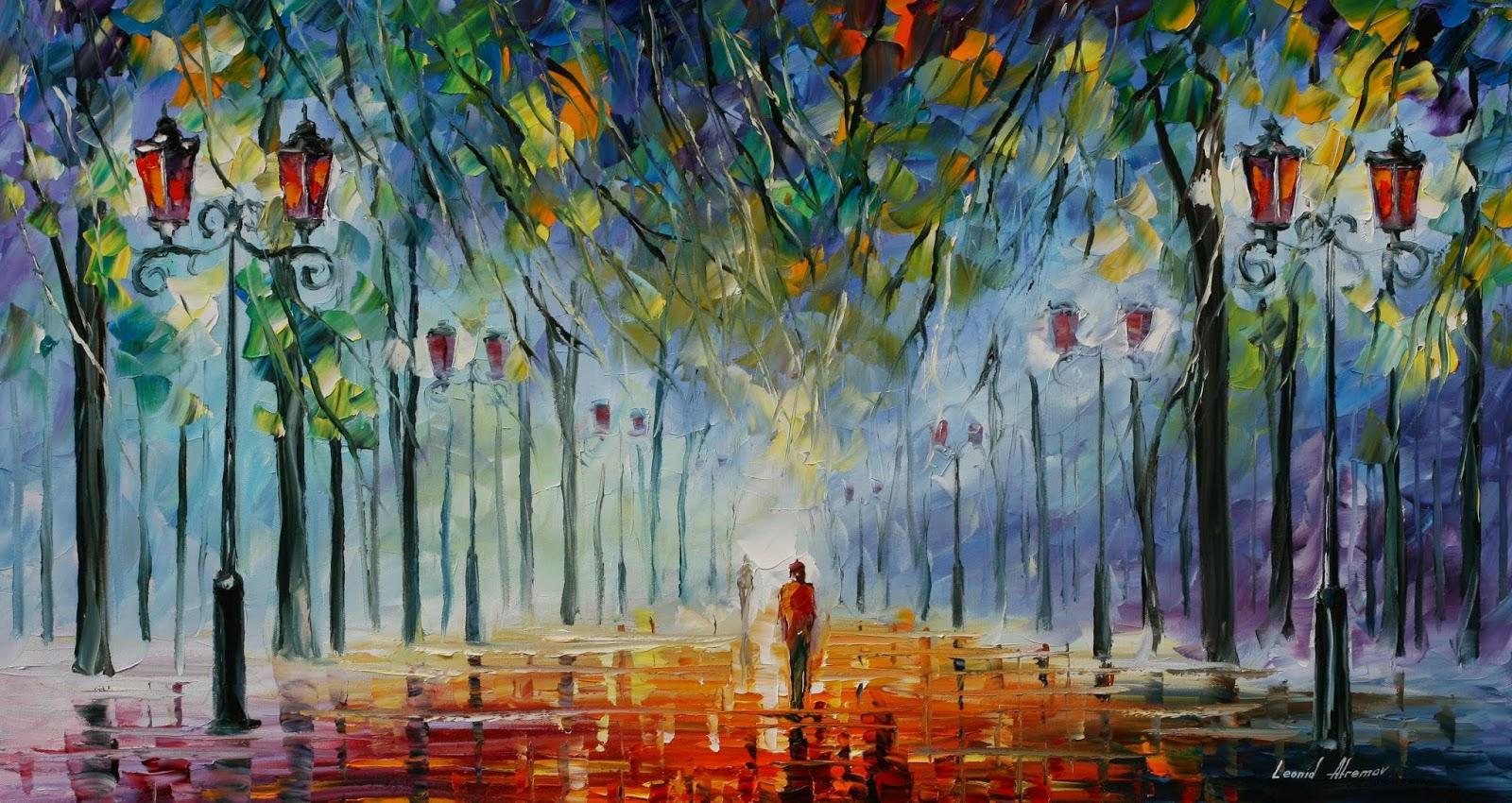 Il blog di simona giorgino leonid afremov la solitudine for Best canvas painting designs