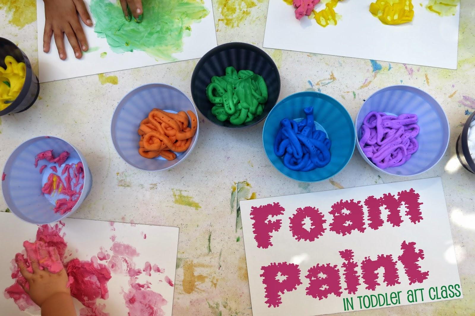Toddler Art Class: Foam Paint : library makers