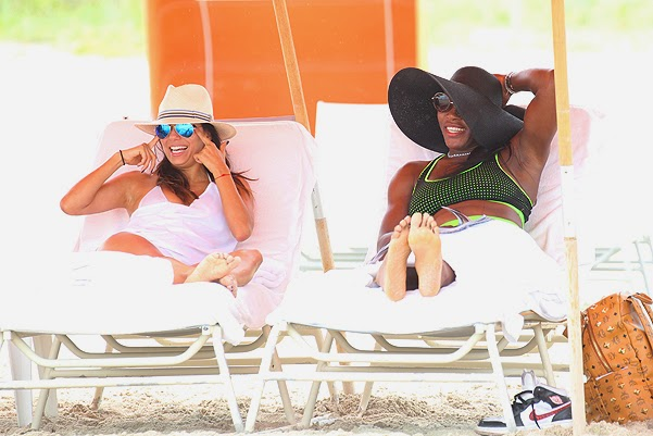 Eva Longoria, Jose Baston and Serena Williams in Miami