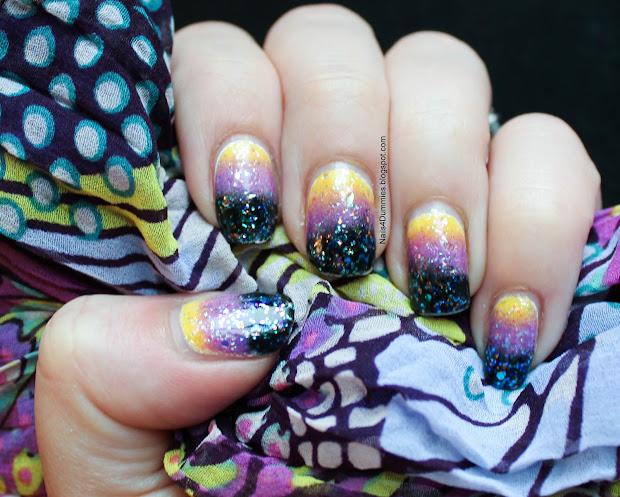 nails 4 dummies black purple