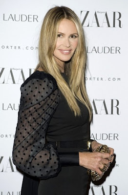 Elle MacPherson Long Straight Cut Hairstyle