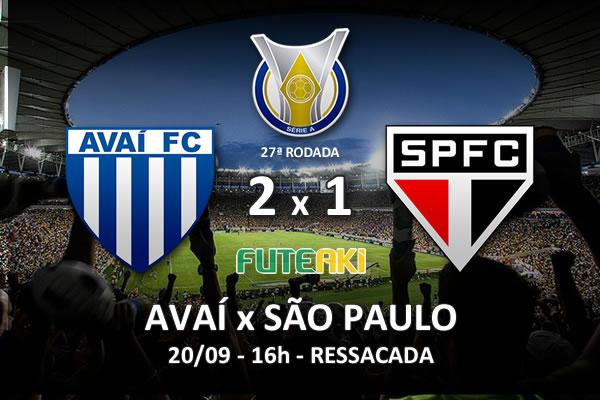 Veja o resumo da partida com os gols e os melhores momentos de Avaí 2x1 São Paulo pela 27ª rodada do Brasileirão 2015.