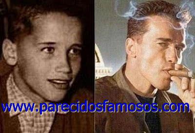 Arnold Schwarzenegger foto antes y después