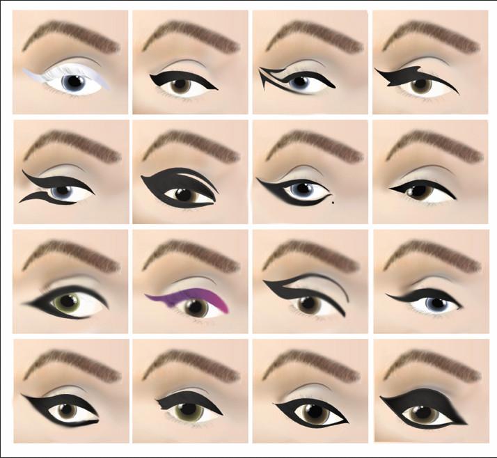 Схема как подводить глаза