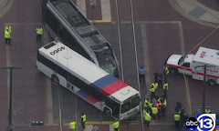 A Hazard of At-Grade Rail; Houston Bus Runs Red Light