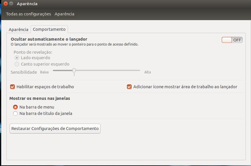 configurar menus