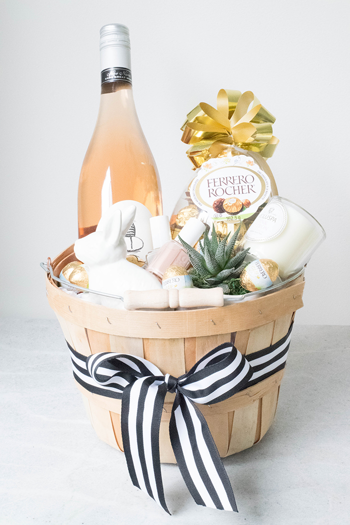 Grown up easter basket cake for breakfast chocolate ferrero rocher basket michaels similar ribbon michaels similar candle voluspa bunny chapters succulent home depot polish negle Gallery