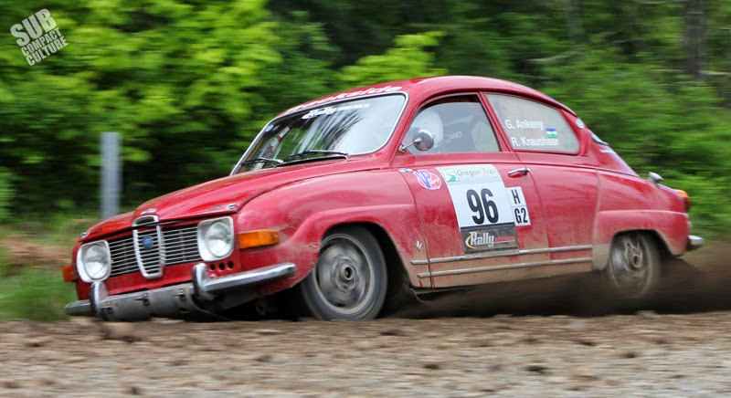 Vintage SAAB Rally Car