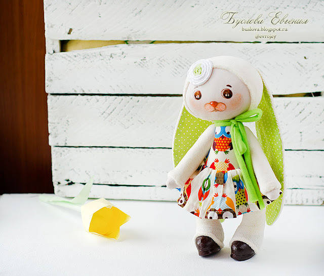 творчество, ручная работа, хобби, зайка, тильда, Буслова Евгения, кукла,  текстильная кукла, текстиль,
