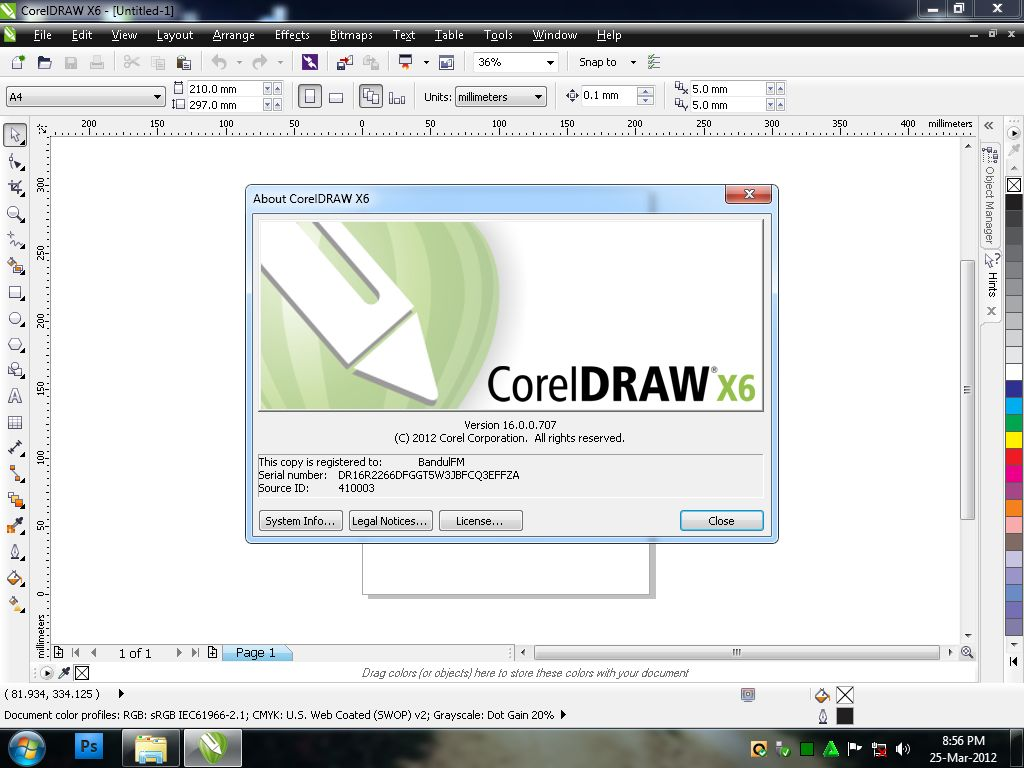 corel draw x6 logo vector