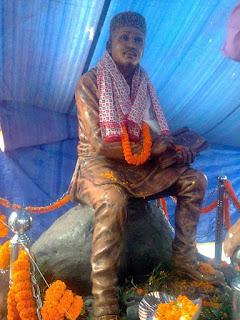 Adikavi Bhanu Bhakta Acharya statue in Milan More Siliguri