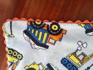 corner closeup handmade rick rack flannel blanket