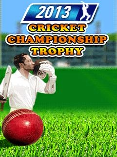 2013 cricket championship: Trophy,games for touchscreen mobiles