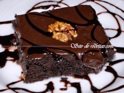 Brownie delicioso de chocolate