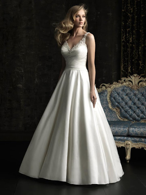 Wedding Dress With Ruching 28 Trend Fitted A line gown